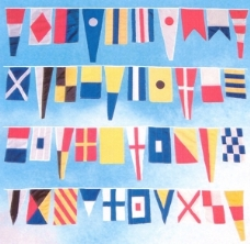 boating flags + nautical + sailing + marine