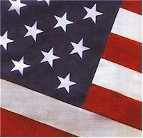 Tough, woven 2-ply polyester U.S. Flag