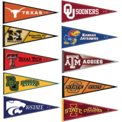 college flags + university