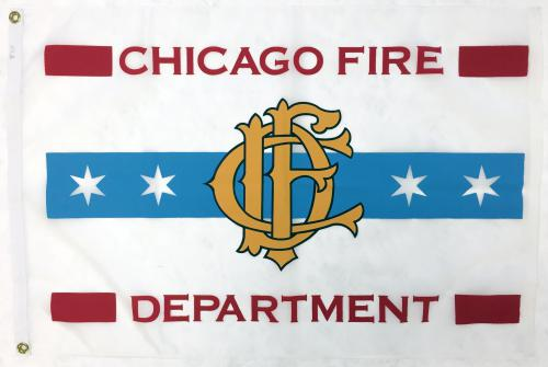 Chicago Fire Department Flag