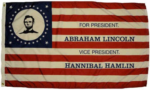 Lincoln Election Flag of 1860