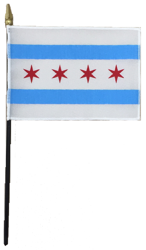 City of Chicago Desk Flag