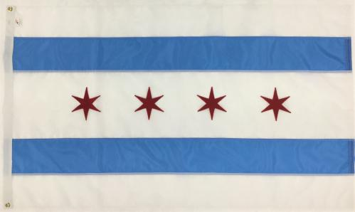 City of Chicago Illinois IL Flag