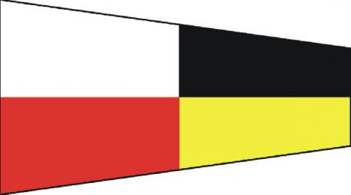 Number Nine Code of Signals Boat Flags