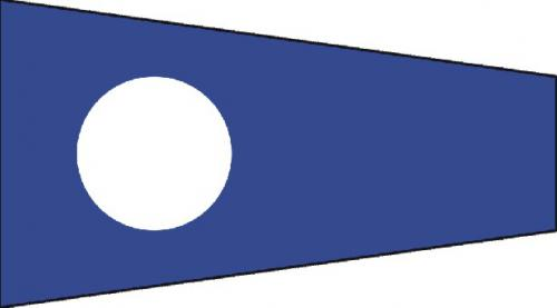 Number Two Code of Signals Boat Flags