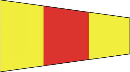Number Zero Code of Signals Boat Flags