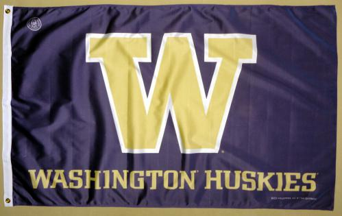 Washington Univ NCAA Polyester Flag, 3 X 5
