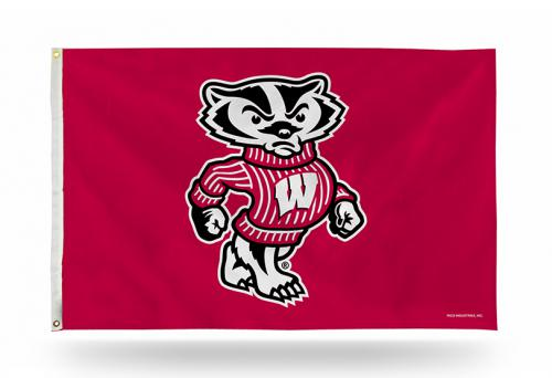 Wisconsin Univ NCAA Polyester Flag, 3 X 5
