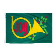 Joy Horn Red Green Dyed Nylon Flag, 3 X 5