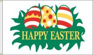 Happy Easter Eggs Dyed Nylon Flag, 3 X 5