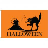 Halloween Cat Dyed Nylon Flag, 3 X 5
