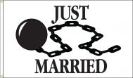 Just Married Dyed Nylon Flag, 3 X 5