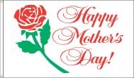 Happy Mothers Day Dyed Nylon Flag, 3 X 5