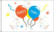 PARTY TIME BALLOONS CONFETTI DYED NYLON FLAG, 3 X 5