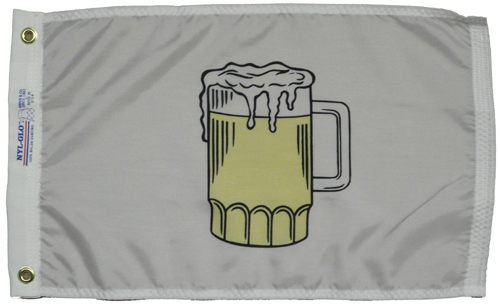 Beer Glass Nylon Flag, 12 X 18