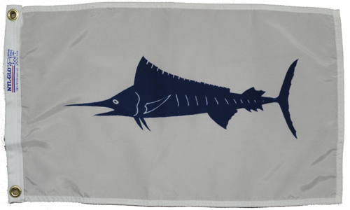 Blue Marlin Nylon Flag, 12 X 18