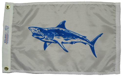Mako Shark Nylon Flag, 12 X 18