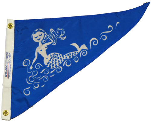 Mermaid Nylon Pennant, 10 X 15