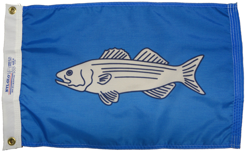 Striped Bass Nylon Flag, 12 X 18