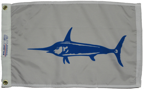 Swordfish Nylon Flag, 12 X 18
