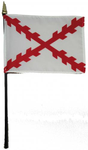 Cross of Burgundy Desk Flag Historical American Flags