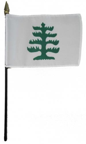 Pine Tree Desk Flag Historical American Flags