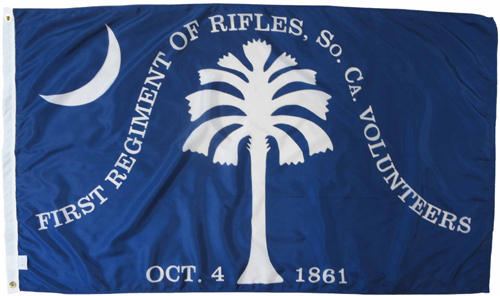 1st South Carolina Rifles Regiment Civil War Flags
