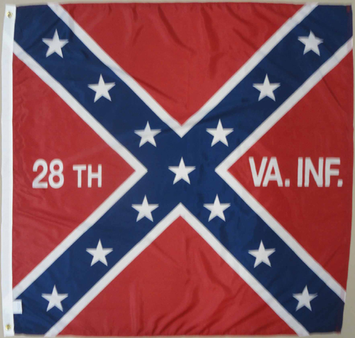 28th Virginia Infantry Regiment Civil War Flags