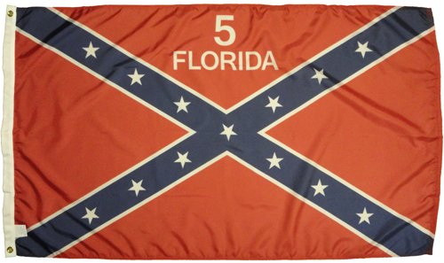 5th Florida Infantry Regiment Civil War Flags