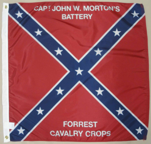 Mortons Battery Forest Cavalry Tennessee TN Civil War Flags