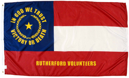 North Carolina NC Rutherford Volunteers Civil War Flags