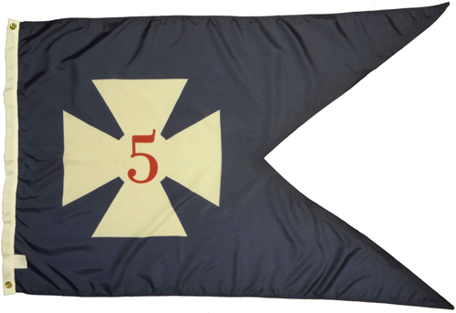 5th Corps Headquarters 1864 Civil War Flags