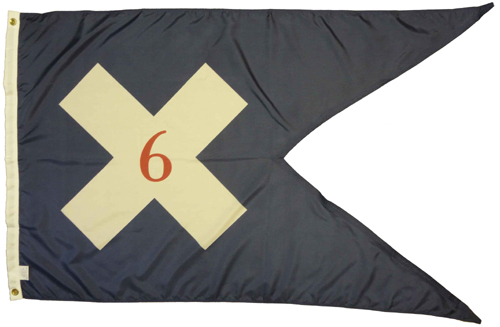 6th Corps Headquarters 1864 Civil War Flags
