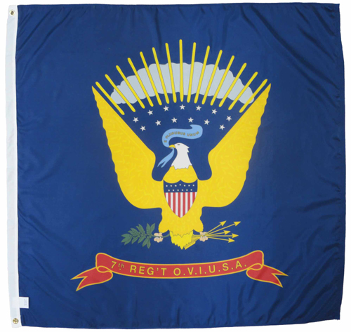 7th Ohio Infantry Regiment Civil War Flags