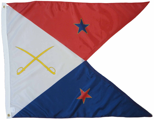 Cavalry Guidon Red White Blue Civil War Flags
