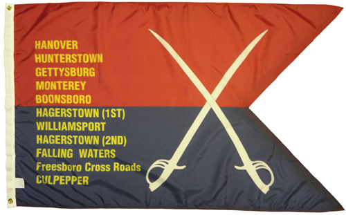 Custers 2nd Personal Guidon Civil War Flags