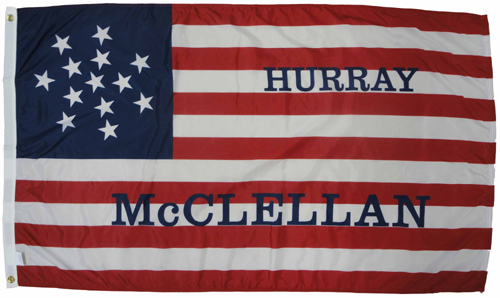 McClellan Pendleton Election 1864 Civil War Flags