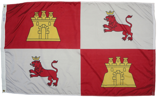 Spain Lions and Castles Historical American Flags