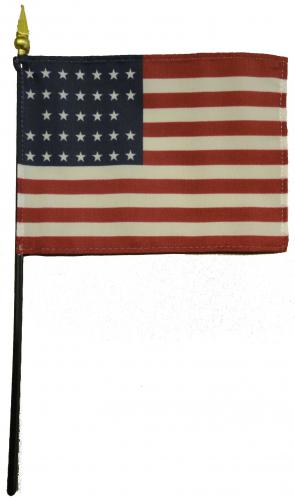 U.S. United States 33 Star Desk Flag