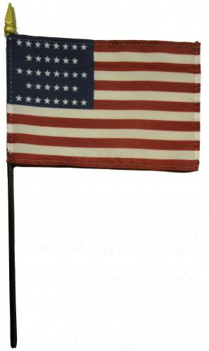 U.S. United States 36 Star Desk Flag
