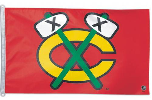 Chicago Blackhawks C NHL Polyester Flag, 3 X 5