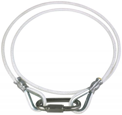 White Internal External Flagpole roped Retainer Ring