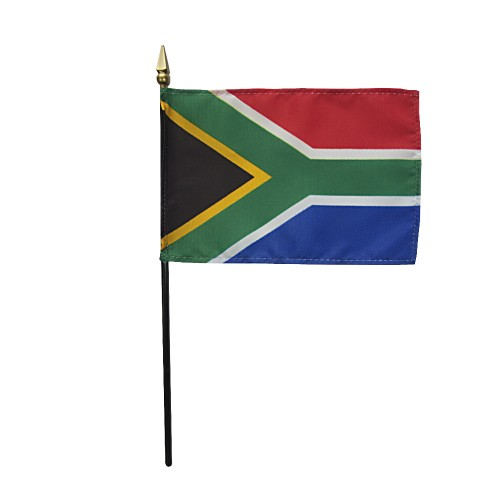 South Africa Miniature Desk Flag, 4 X 6