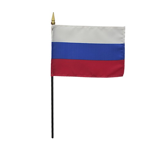 Russia Miniature Desk Flag, 4 X 6