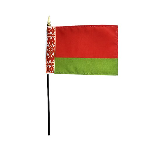 Belarus Miniature Desk Flag, 4 X 6