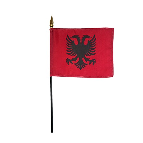 Albania Miniature Desk Flag, 4 X 6
