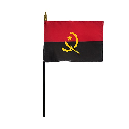 Angola Miniature Desk Flag, 4 X 6