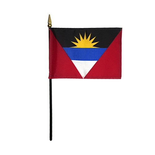 Antigua & Barbuda Miniature Desk Flag, 4 X 6