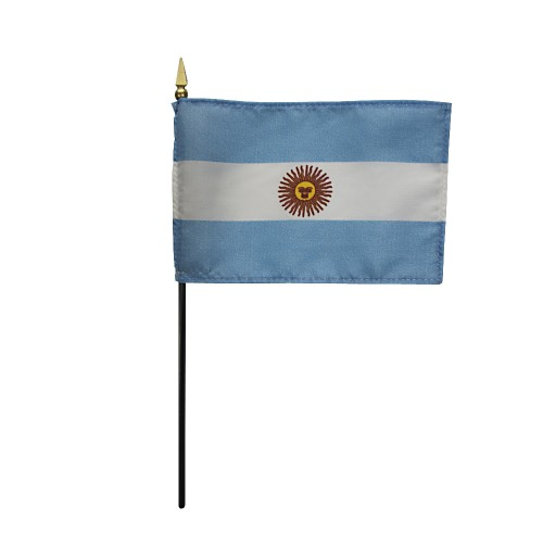 Argentina (Govt) Miniature Desk Flag, 4 X 6