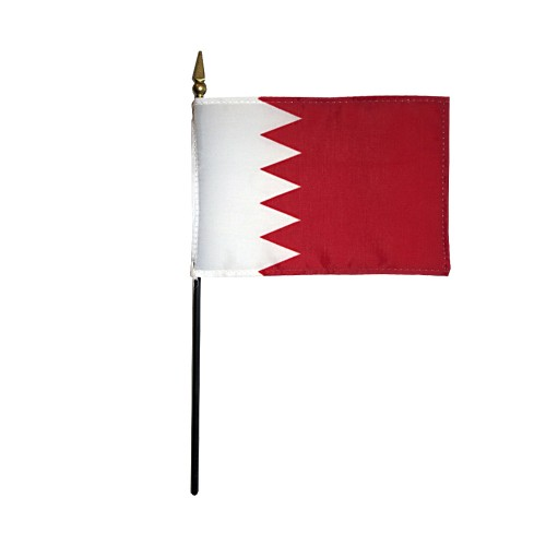 Bahrain Miniature Desk Flag, 4 X 6